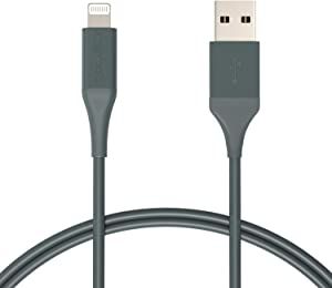 AmazonBasics Lightning to USB Cable - Advanced Collection, MFi Certified Apple iPhone Charger, Midnight Green, 3-Foot (Durability Rated 10,000 Bends)