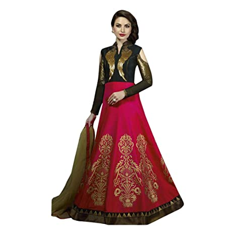 7c5886a932 Amazon.com: Christian Wedding Black & Pink Gown Anarkali Suit Dress  Pakistani Custom to Measure Muslim Eid Stock: Home Improvement
