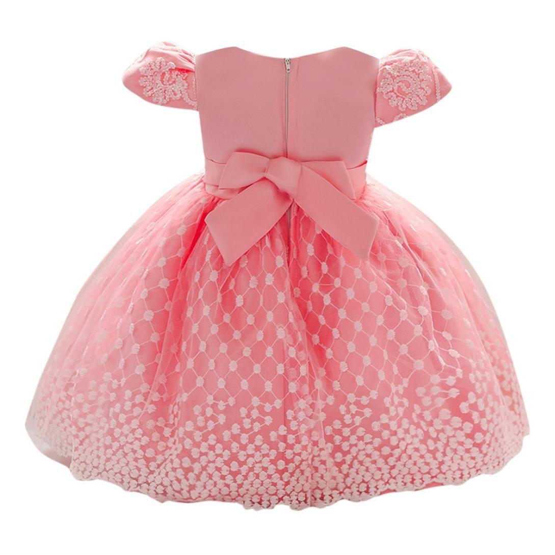1b03033fc6b6 Amazon.com: Vincent&July Baby Girl Princess Flower Print Bowknot Party  Wedding Baptism Tutu Dresses: Clothing
