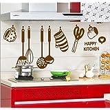 Decals Design 'Stylish Kitchen' Wall Sticker (PVC Vinyl, 60 cm x 45 cm, Brown)