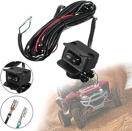 Fransande Moto ATV//UTV Verricello Interruttore a bilanciere per Manubrio Linea di Controllo Elettrico Argano Accessori
