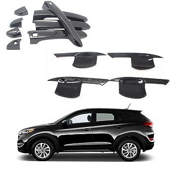 Ninte para 2016 – 2018 Hyundai Tucson The negro ABS Triple cromado 4 puerta mango +