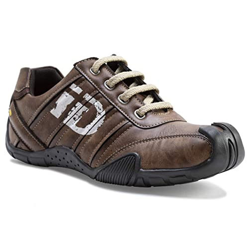Buy ID Men's Casual Shoes (Brown) at