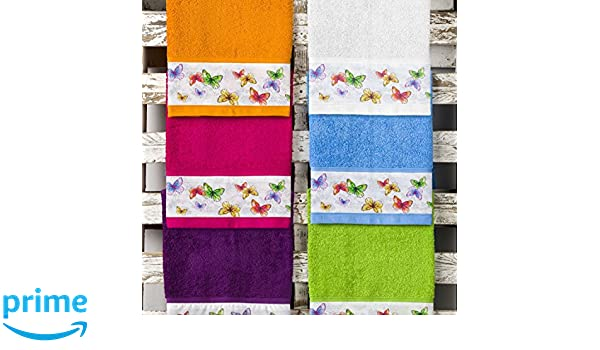 Barceló Hogar 05060080008 Juego 3 toallas con aplique para bidé, lavabo y ducha, modelo Natura, rizo americano, pistacho: Amazon.es: Hogar