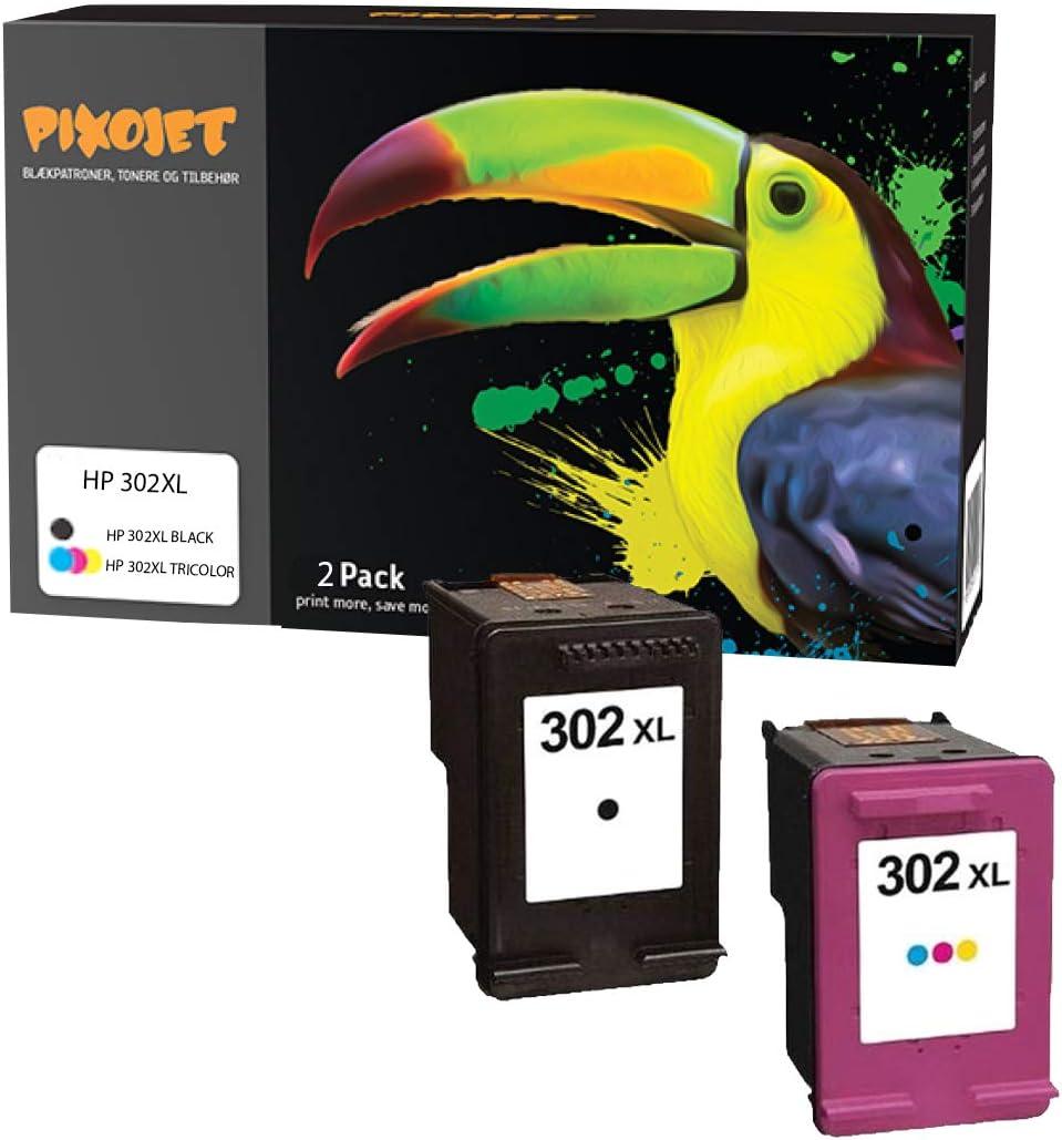 HP 302 x l 2 Pack – Cartuchos de Impresora Compatible para HP Deskjet HP Envy HP Officejet (1 Negro, 1 Color): Amazon.es: Oficina y papelería