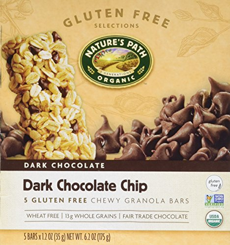 Nature's Path Organic Gluten-Free Chewy Granola Bars, Dark Chocolate Chip, 6.2 Ounce Box