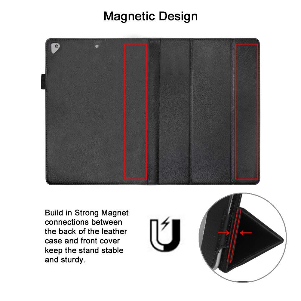 FAN SONG Funda para iPad 2018/2017 9.7, Carcasa de Protección Magnética Cuero PU con función de Auto Sueño/Estela, Soporte Plegable, Portalápiz para ...
