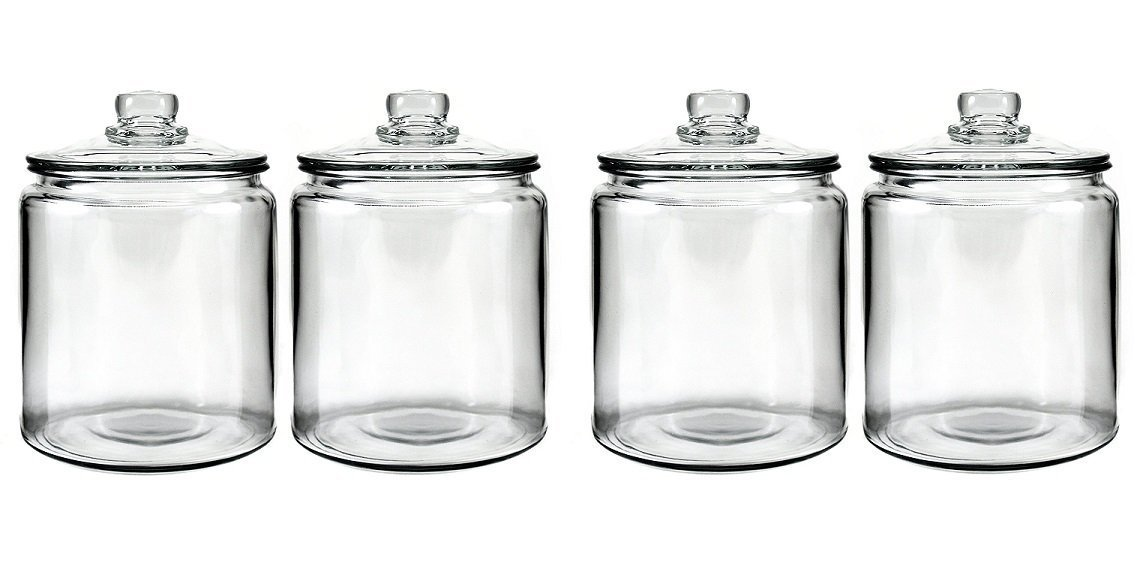 Anchor Hocking Heritage Hill Glass 0.5 Gallon Storage Jar, Set of 2 85545R