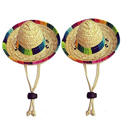 Amazon.com   Dogs Sombrero Hat Dogs Sun Hat Party Hats for Dogs Mexican  Style Hat for Dogs and Cats Funny Dog Costume   Pet Supplies efec058d6f1c