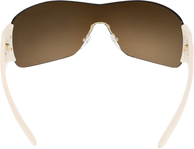 5239ac733ff ... coupon code for brand new mens womens prada spr 22m zva6s1 beige brown  shield sunglasses prada