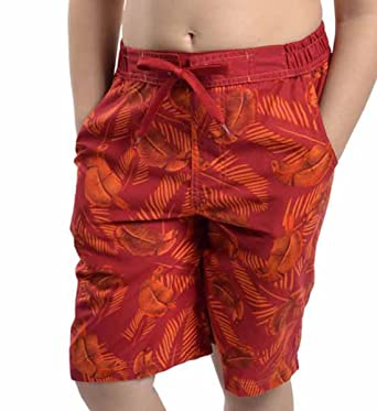 Tom Franks Mens Safari Print Swim Shorts Swimming Trunks Beach Pants Surf...