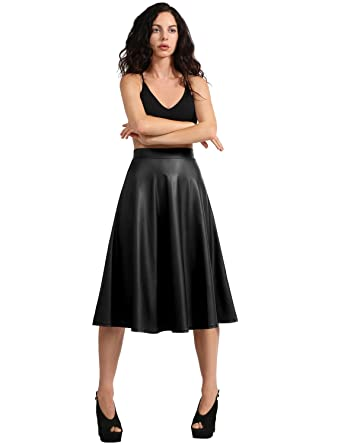 b04c4d89e92 J. LOVNY Womens Faux Leather Bodycon Midi PU Skirt Made In USA S-3XL ...