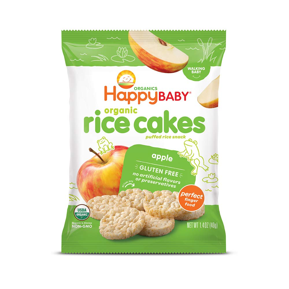 d606ea6cb94 Happy Baby Organic Rice Cakes Apple, 1.4 Ounce Packets (Pack of 10 ...