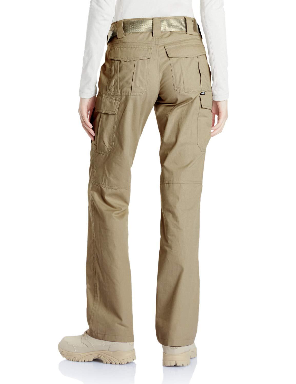 CQR CQ-WFP510-KHK_14/Long Women's Flex Stretch Tactical Long Pants Lightweight EDC Assault Cargo wiith Multi Pockets WFP510 by CQR (Image #2)