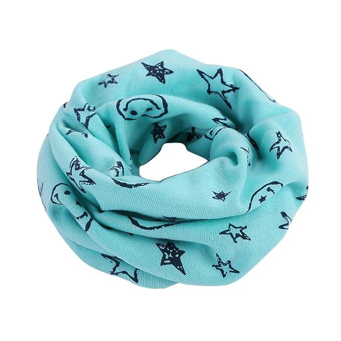 FEITONG Otoño invierno Niños niñas collar del bebé bufanda de algodón  Cuello redondo Bufandas (A 807d0819bd4