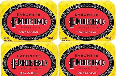 Phebo Body Soap - Odor of Roses - 3.1oz | Sabonete Barra Odor de Rosas Phebo - 90g by - Mall Rosa