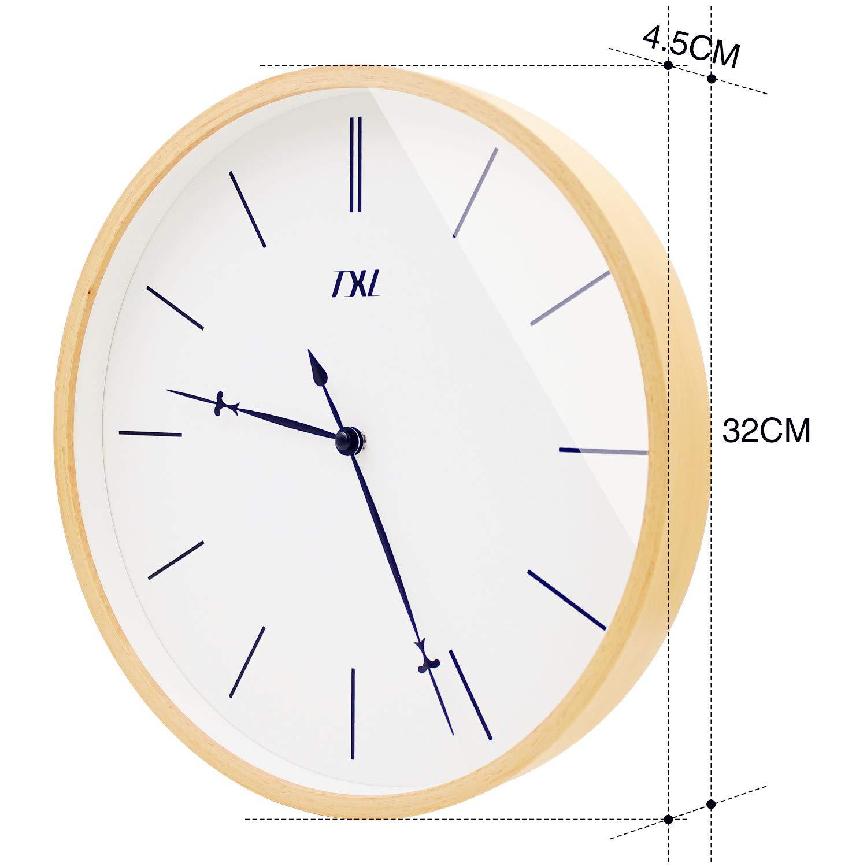 Inconnu Pendules Geante Horloge Murales Bois, Vintage Silencieuse ...