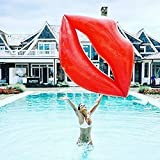 Tambeeze Lips Inflatable Pool Float - Summer Lounge Raft - Swim Party Toy