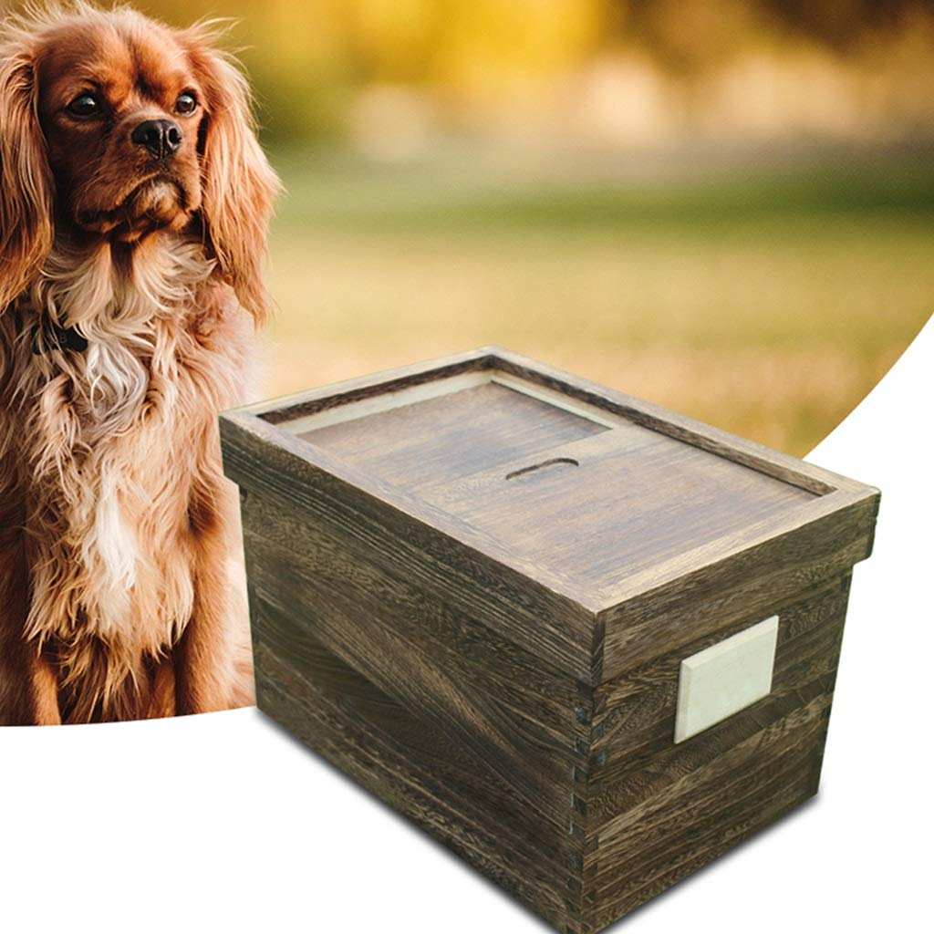 5l Dog Food Storage Container Retro Design Natural Paulownia Wood