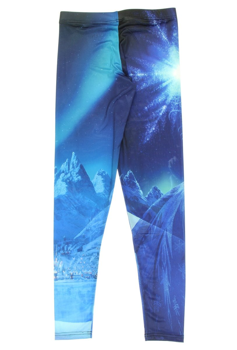 Let It Go! -- Disney Frozen Ladies All-Over-Print Leggings (X-Small)