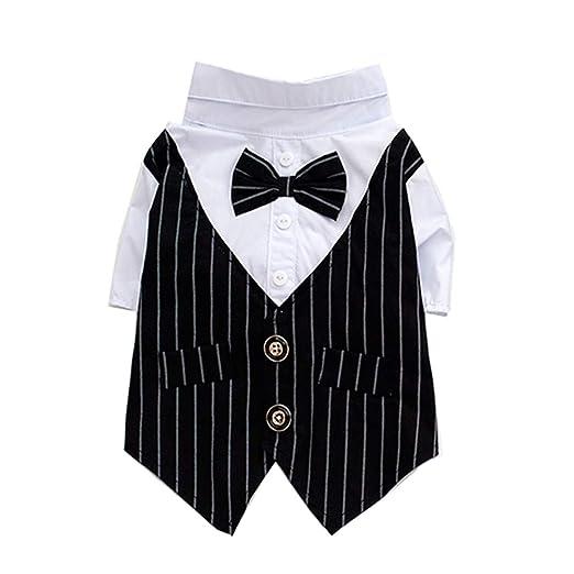 YWX Vestido A Rayas de Hombre de British Gentleman Vestido Negro ...