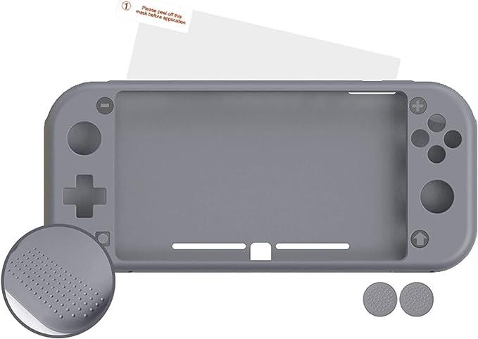 Android - Nuwa Silicona Antideslizante Gris + 2 Grips + Film Protector Para Nintendo Switch Lite: Amazon.es: Videojuegos