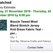 3ce189d67460f1 Boucle Tweed Wool Blend Stretch Jersey Knit Dress Fabric Teal - per ...