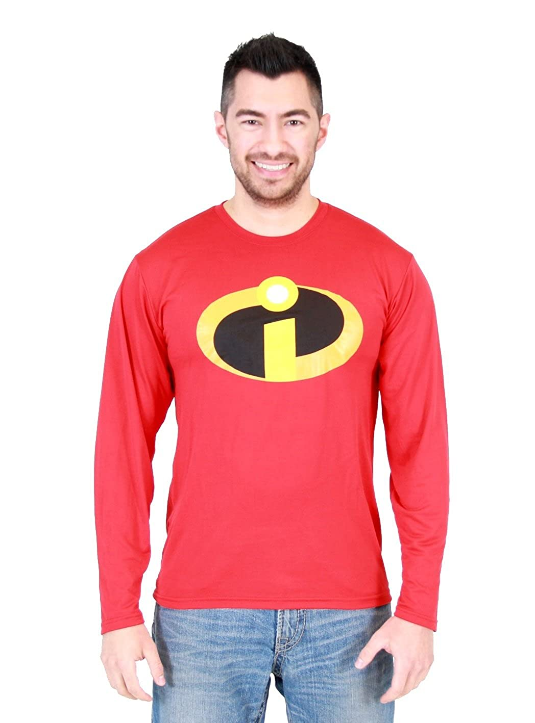 Disney The Incredibles Basicon Red Long Sleeve Polyester T-Shirt
