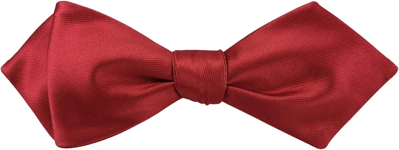 Mens Exquisite Woven Silk Self Bowtie Solid Plain Diamond Bow Ties-Various Colors