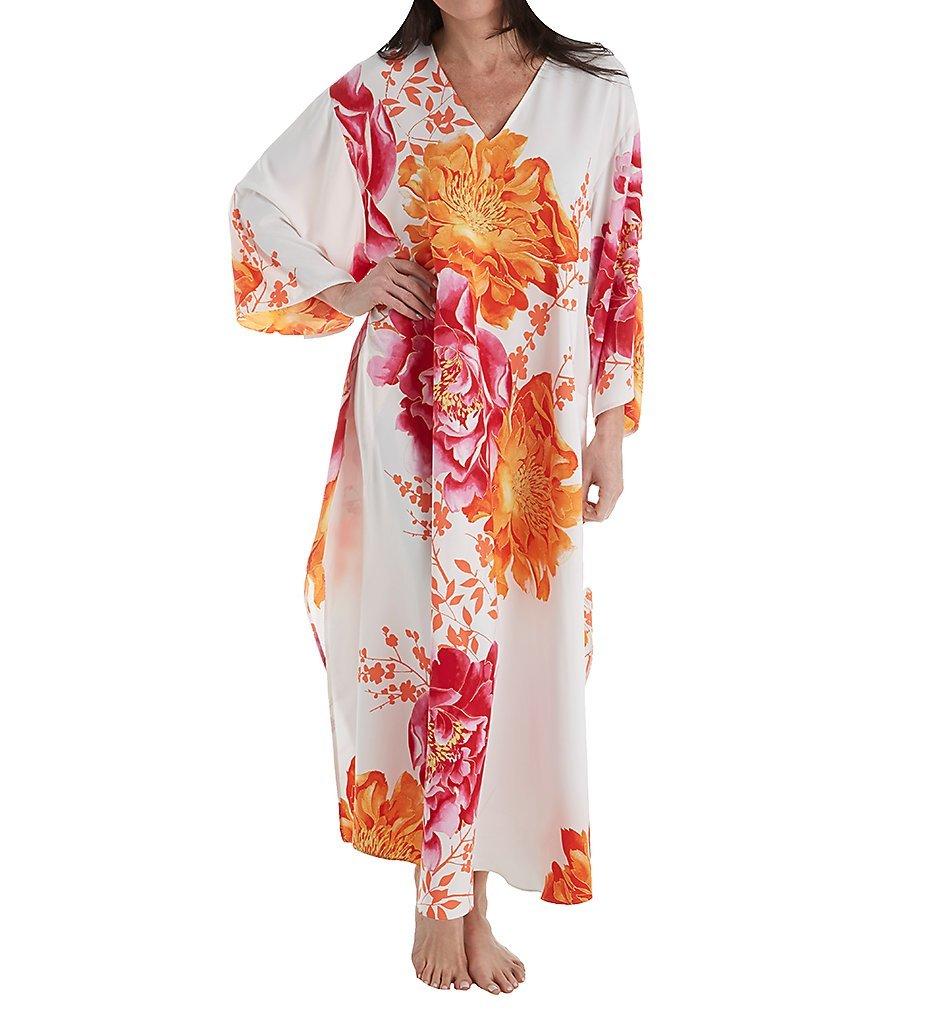 Natori Women's Bali Caftan, Warm White, XL
