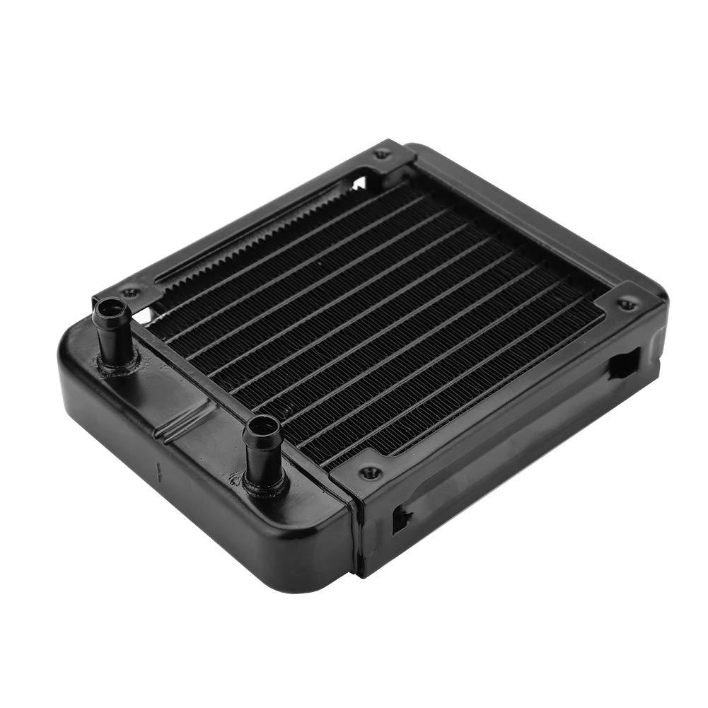 CPU Disipador de Calor del Sistema de Enfriamiento por L/íquido para Radiaci/ón T/érmica Eboxer 120 mm 10 Tubos Radiador de Enfriamiento por Agua Intercambio de Calor Adecuado para Tubos de 8-10 mm