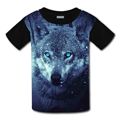 9dbb9e7fe63 Wild Wolf Blue Eyes Scary Light Weight T-Shirt 2017 The Latest Version For  boysfree