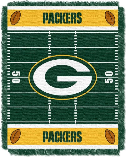 (The Northwest Company Officially Licensed NFL Green Bay Packers Field Bear Woven Jacquard Baby Throw Blanket, 36