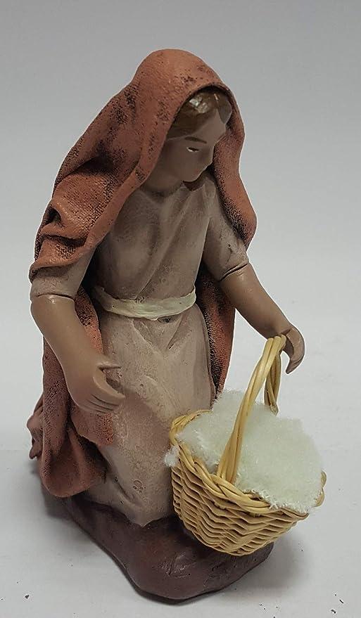 para Figuras de 12 cm. Arte Pesebre Pastor con Cordero al Brazo