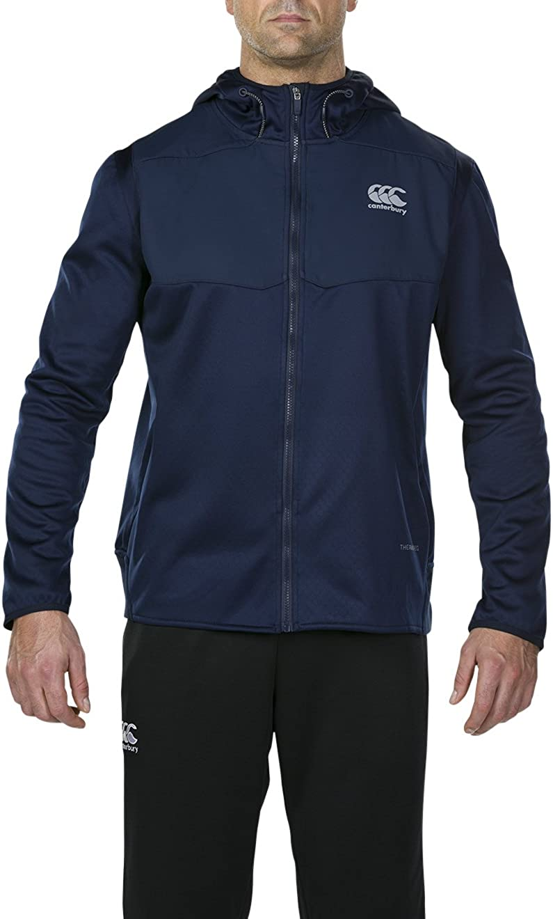 XX-Large Navy Canterbury Thermoreg Spacer Full Zip Fleece Hoodie Mens