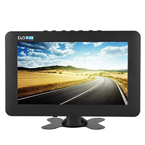 Tragbarer DVB-T/T2 Fernseher,ASHATA 1080P HD TV DVB-T/T2 LCD Fernseher Digital Analog TV,Portable Mini Auto LED Digitalfernse