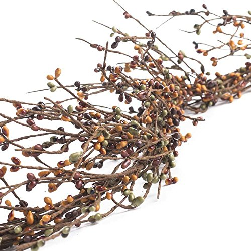 Factory Direct Craft Rustic Sage Green, Warm Brown and Tan Pip Berry Garland