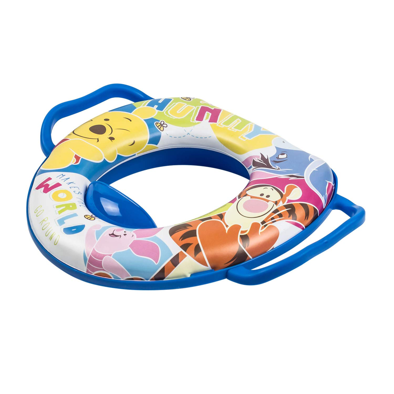 Winnie Pooh weicher gepolsterter WC Sitz blau Baby Kinder Toilettenaufsatz OKT Kids OKT8679Blue