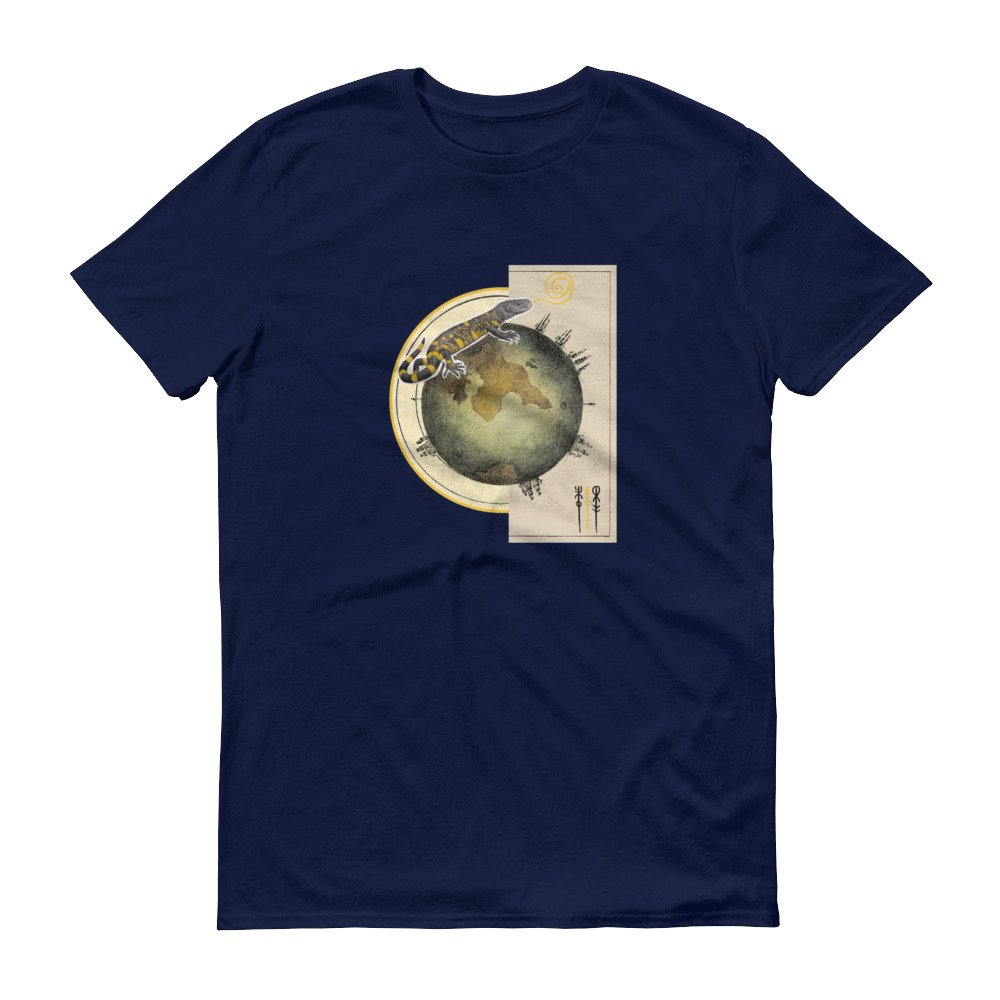 Earth Globe Lizard Animal Pop Art Fantasy Dream Unisex Men/'s Women/'s Gift Tshirt