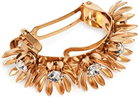 Elizabeth Cole Women's Golden Floral Ponytail Holder