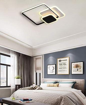 Zqq87 - Lámpara de techo cuadrada y anilla regulable para mesa de ...