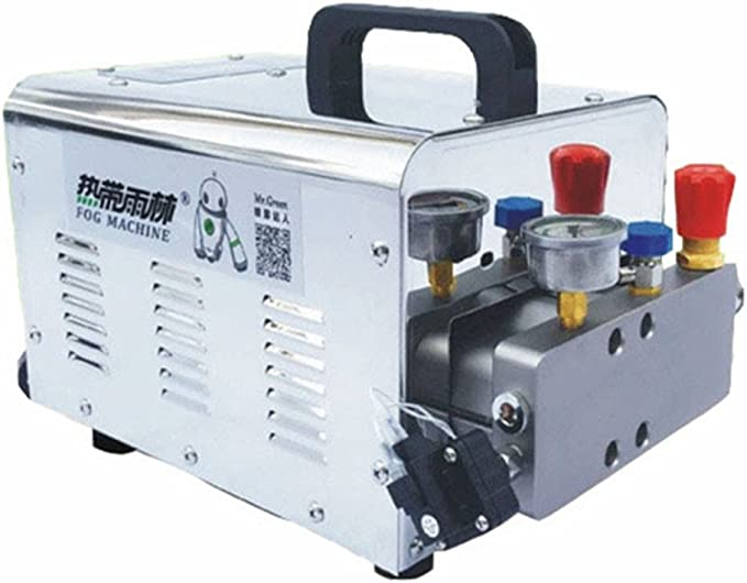 Alta presión niebla sistema sistema de refrigeración de agua pulverizador de riego Misting sistema y electrostática polvo Prevención con 12 piezas No. 1 boquilla y 20 m PE tubo: Amazon.es: Hogar