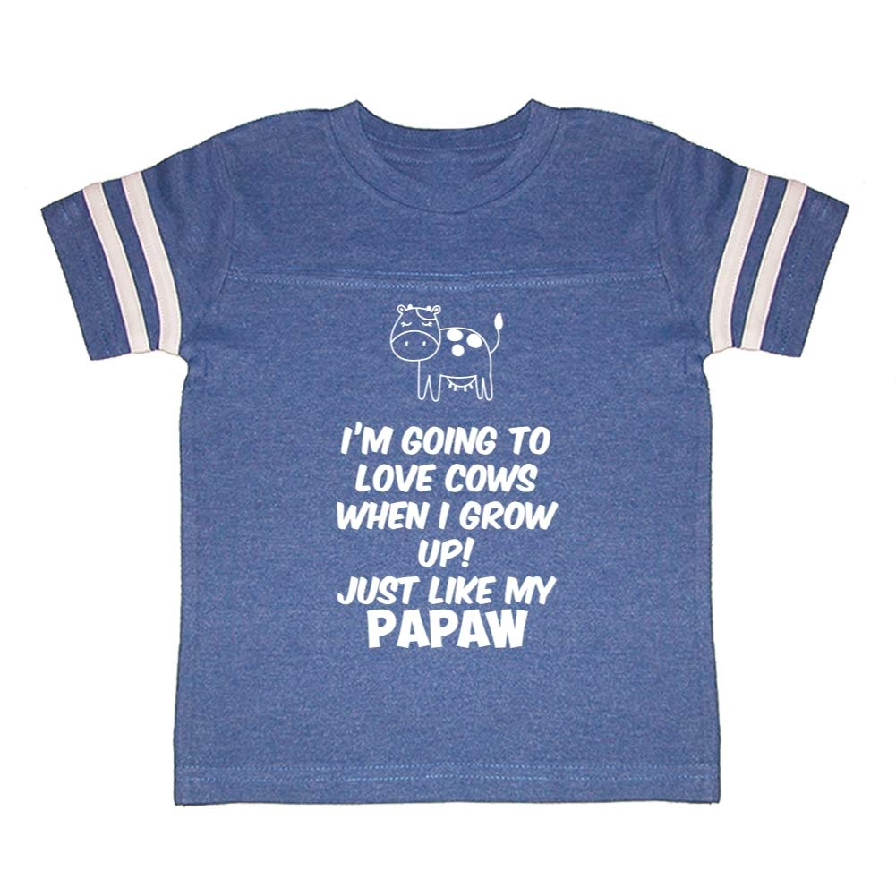 Im Going to Love Cows When I Grow Up Toddler//Kids Sporty T-Shirt Just Like My Papaw