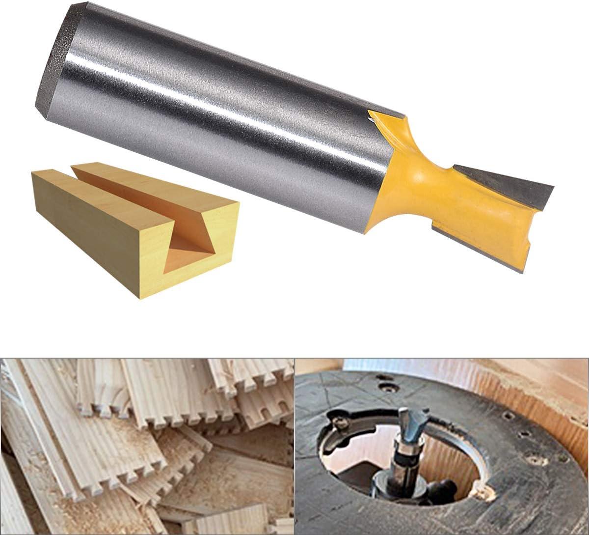 YG6X Fraise en alliage primaire Fraise pour la construction de coffres /à tiroirs et de menuiserie fine 1//2 pouce tige et 1//2 pouce de largeur KATUR Fraise /à queue daronde commune