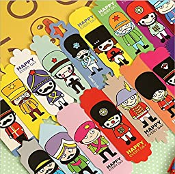 Vintage DIY Multifunction Soldier Cute Paper Bookmark Book Markers /Office of School/ 108sheets /Lot