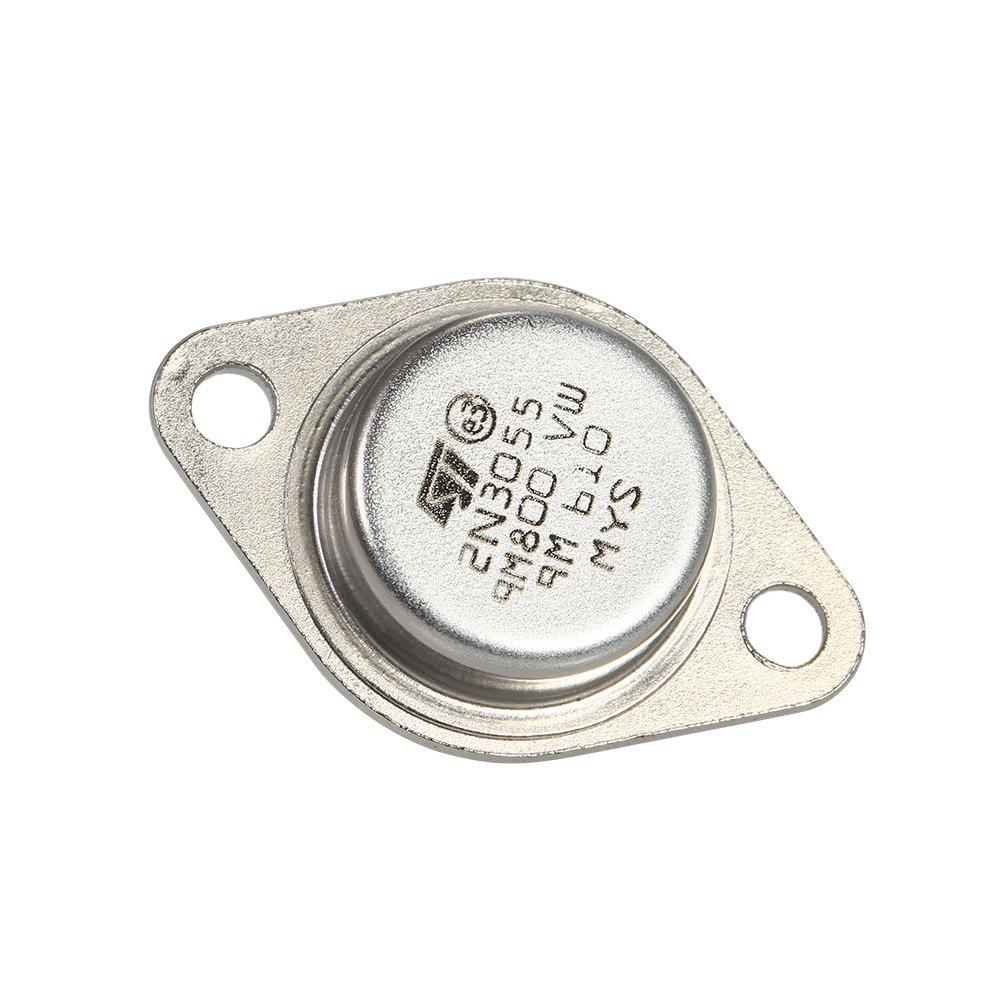 Kkmoon 5pcs High Quality 2n3055 Power Transistors Npn To 3 Metal Transistor Circuit Case 15a 60v Diy Tools