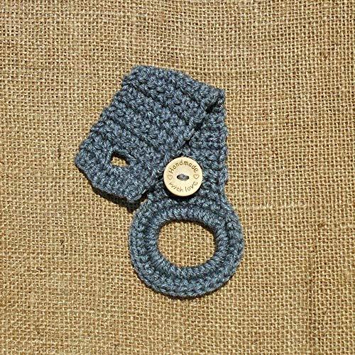 1 Handle Loop Kitchen - Grey Crochet Hanging Dish Towel Holder, Kitchen Decor