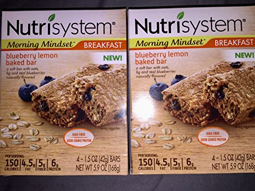 Nutrisystem Blueberry Lemon Baked Bars (8 bars Total)
