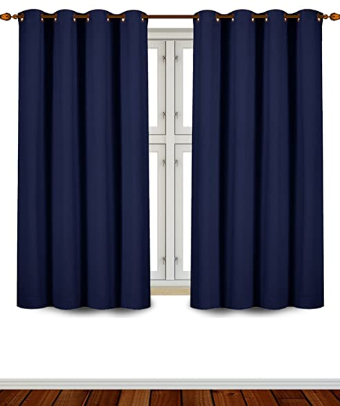 Attractive Utopia Bedding Grommet Top Thermal Insulated Blackout Curtains, 2 Panels,  52 X 63 Inch