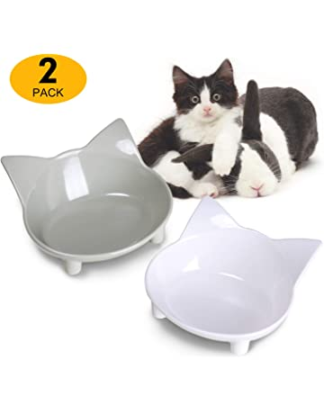 Cat Supplies 2 X Luxury Porcelain Heavyweight Paw Cat Pet Cream Food Water Bowl Saucer 12cm Be Novel In Design